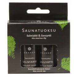 Esencias Salmiac y Humo de Hierbas Emendo para sauna 2x10 ml