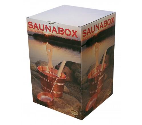 Cubo y cazo de latón Saunia