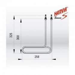 Resistencia Generador de vapor Harvia