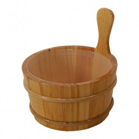 Cubo madera sauna 4 litros