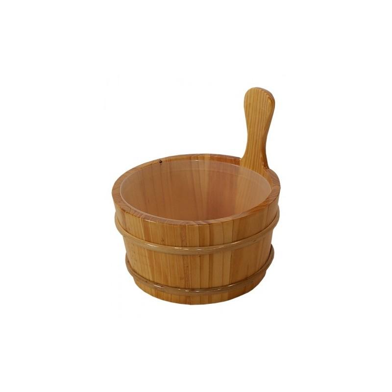 Cubo de madera de 4 litros para la sauna finlandesa al - Madera para sauna ...