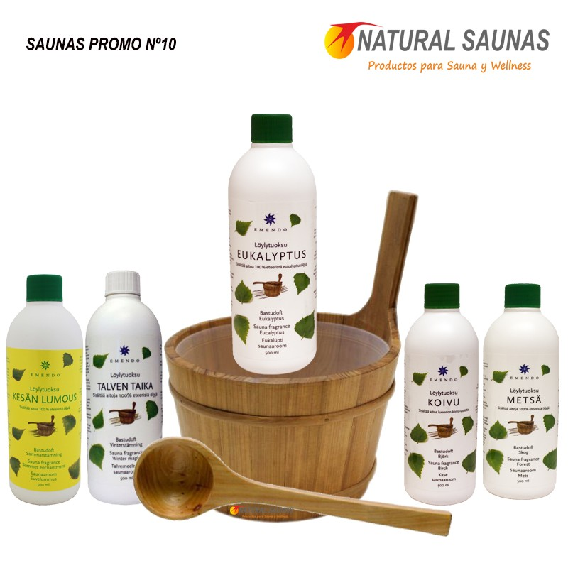 Oferta de esencias cubo y cazo para la sauna finlandesa - Productos para sauna ...