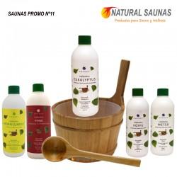 Esencias, cubo y cazo saunas Kit nº 11