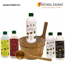 Esencias, cubo y cazo saunas Kit nº 12