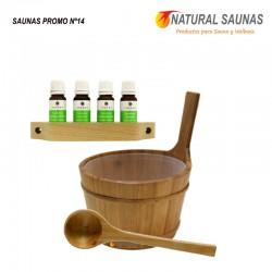 Esencias, cubo y cazo saunas Kit nº 14