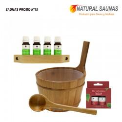 Esencias, cubo y cazo saunas Kit nº 15
