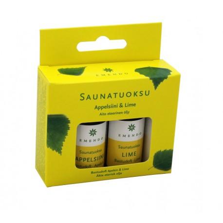 Esencias Naranja y Lima Emendo para sauna 2x10 ml