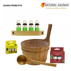 Esencias, cubo y cazo saunas Kit nº 16