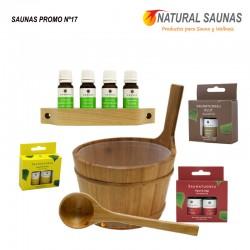 Esencias, cubo y cazo saunas Kit nº 17