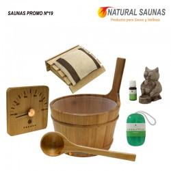 Cubo, cazo y productos sauna Kit nº 19