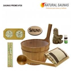 Cubo, cazo y productos sauna Kit nº 20